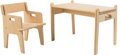 Furniture , Hans J. Wegner (Danish, 1914-2007). Little Peter's Chair and Table, CH410 and CH411, designed 1944, recent production, C... (Total: 2 Items)