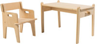 Hans J. Wegner (Danish, 1914-2007) Little Peter's Chair and Table, CH410 and CH411, designed 1944, rece