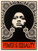 Shepard Fairey (American, b. 1970) The Power (Black), 2007 Screenprint in colors on cream speckled paper 24 x 18 inch
