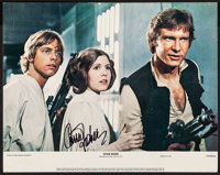 "Star Wars (20th Century Fox, 1977). Autographed Lobby Card (11"" X 14""). Science Fiction"