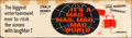 """Movie Posters:Comedy, It's a Mad, Mad, Mad, Mad World (United Artists, 1963). Silk ScreenBanner (24"""" X 81.5""""). Comedy.. ..."""