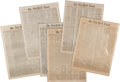 Miscellaneous:Newspaper, [Civil War]. A Group of (Seven) New York Times Newspaper Issues.... (Total: 7 )