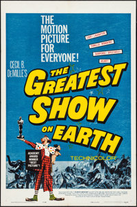 """The Greatest Show on Earth (Paramount, R-1960). One Sheet (27"""" X 41""""). Drama"""