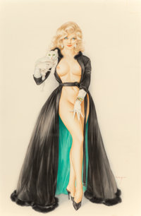 Alberto Vargas (American, 1896-1982) I Never Go Out with Married Men, So Won't You Please Come In, Playboy inte