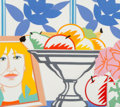 Works on Paper, Tom Wesselmann (1931-2004). Still Life, 1988. Ceramic multiple in colors, mounted to the support. 13-1/4 x 14-3/4 inches...