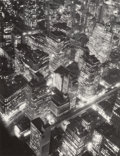 Photographs, Berenice Abbott (American, 1898-1991). New York at Night, 1932. Gelatin silver, printed later. 13-1/4 x 10-3/8 inches (3...