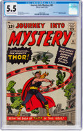 Silver Age (1956-1969):Superhero, Journey Into Mystery #83 (Marvel, 1962) CGC FN- 5.5 Off-white to white pages....