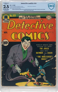 Detective Comics #69 (DC, 1942) CBCS Conserved GD+ 2.5 Off-white to white pages