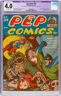Golden Age (1938-1955):Humor, Pep Comics #34 (MLJ, 1942) CGC Apparent VG 4.0 Slight (C-1) Off-white pages....