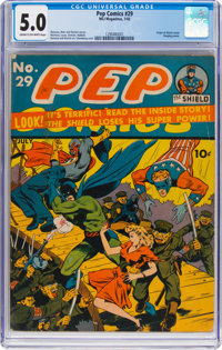 Pep Comics #29 (MLJ, 1942) CGC VG/FN 5.0 Cream to off-white pages