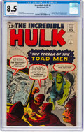Silver Age (1956-1969):Superhero, The Incredible Hulk #2 (Marvel, 1962) CGC VF+ 8.5 White pages....