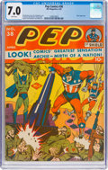 Golden Age (1938-1955):Superhero, Pep Comics #38 (MLJ, 1943) CGC FN/VF 7.0 White pages....