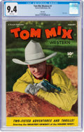 Golden Age (1938-1955):Western, Tom Mix Western #1 Mile High Pedigree (Fawcett Publications, 1948) CGC NM 9.4 White pages....
