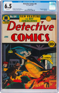Detective Comics #64 (DC, 1942) CGC FN+ 6.5 White pages