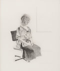 Prints & Multiples, David Hockney (b. 1937). Celia Seated in an Office Chair, 1974. Aquatint, drypoint, and etching on Rives BFK paper. 27 x...