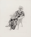 Prints & Multiples, David Hockney (b. 1937). Celia in a Wicker Chair, 1974. Aquatint, drypoint, and etching on Rives BFK paper. 27 x 21-1/4 ...