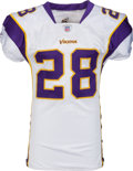 Football Collectibles:Uniforms, 2007 Adrian Peterson Game Worn Minnesota Vikings Rookie Jersey - Photo Matched to 11/11 vs. Packers! ...