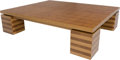 Furniture , Robert Couturier (French, born 1955) . Coffee Table, 2015 . Oak. 16-5/8 x 73 x 60-1/2 inches (42.2 x 185.4 x 153.7 c...