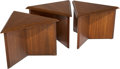 Furniture , Frank Lloyd Wright (American, 1867-1959). Three Side Tables, circa 1955, Heritage-Henredon. Mahogany. 14-3/4 x 21-3/4 x ... (Total: 3 Items)