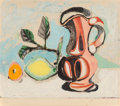 Prints & Multiples, After Pablo Picasso . Nature morte au citron et au pichet rouge, c. 1960. Aquatint in colors on Rives BFK paper laid on ...
