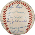 Autographs:Baseballs, 1959 Kansas City Athletics Team Signed Baseball with Maris. ...