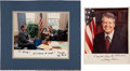Autographs:U.S. Presidents, Jimmy Carter and George H.W. Bush Signed Photos.... (Total: 2Items)