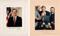 Autographs:U.S. Presidents, Ronald Reagan and George H.W. Bush Signed Photos.... (Total: 2 Items)