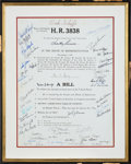 Autographs:U.S. Presidents, Ronald Reagan Reproduction of Tax Reform Bill Signed ...