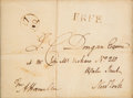 Autographs:Statesmen, Alexander Hamilton Address Panel Signed with a FrankingSignature....