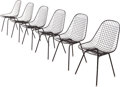 Furniture , Charles Eames (American, 1907-1978) and Ray Kaiser Eames (American, 1912-1988). Six Wire Chairs from Craig Ellwood's H... (Total: 6 Items)