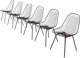 Charles Eames (American, 1907-1978) and Ray Kaiser Eames (American, 1912-1988) Six Wire Chairs from Craig Ellwood's H...
