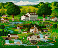 Paintings, Charles Wysocki (American, 1928-2002). Country Gardens. Oil on canvas. 36 x 48 inches (91.4 x 121.9 cm). Signed lower le...