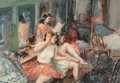 Fine Art - Work on Paper, John Whorf (American, 1903-1959). Young Ballerinas.Watercolor on paper. 14-1/2 x 21-1/2 inches (36.8 x 54.6 cm)(sight)...