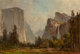 Thomas Hill (American, 1829-1908) Gates of Yosemite and Bridal Veil Falls Oil on board 14 x 21 inches (35.6 x 53.3 cm
