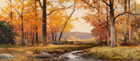 Robert William Wood (American, 1889-1979) Autumn Hues, 1962 Oil on canvas 21 x 47-1/8 inches (53