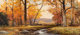 Robert William Wood (American, 1889-1979) Autumn Hues, 1962 Oil on canvas 21 x 47-1/8 inches (53.3 x 119.7 cm) Signe