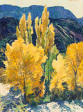 Fine Art - Painting, American, Robert Daughters (American, b. 1929). Poplar Grove, 1984.Oil on canvas. 24 x 18 inches (61.0 x 45.7 cm). Signed upper r...