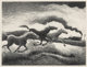 Thomas Hart Benton (1889-1975) Running Horses, 1955 Lithograph on paper 12-1/2 x 16-5/8 inches (31.8 x 42.2 cm) (imag