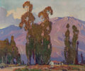 Fine Art - Painting, American, Orrin White (American, 1883-1969). Afterglow, Altadena,California, circa 1930. Oil on canvas. 25 x 30 inches (63.5 x76...