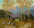 Fine Art - Painting, American, Ernest Henry Pohl (American, 1874-1956). Sycamores and LiveOaks, Dehesa Valley, San Diego County, California. Oil on ca...