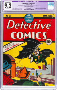 Detective Comics #27 (DC, 1939) CGC Apparent NM- 9.2 Extensive (A-5) Off-white pages