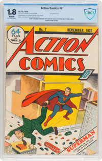 Action Comics #7 (DC, 1938) CBCS GD- 1.8 Brittle pages
