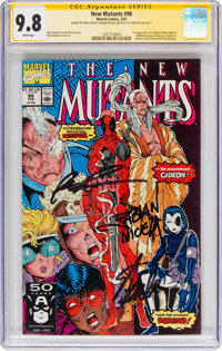 The New Mutants #98 Signature Series(Marvel, 1991) CGC NM/MT 9.8 White pages