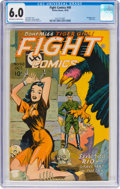Golden Age (1938-1955):War, Fight Comics #40 (Fiction House, 1945) CGC FN 6.0 Off-white towhite pages....
