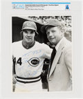 Explorers:Space Exploration, Cincinnati Reds: Pete Rose Signed Photo to Neil Armstrong Directly From The Armstrong Family Collection™, Certified and En...