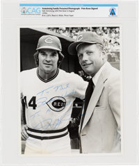 Cincinnati Reds: Pete Rose Signed Photo to Neil Armstrong Directly From The Armstrong Family Collection™, Certifie