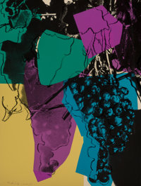 Andy Warhol (1928-1987) Grapes, 1979 Screenprint in colors on Strathmore Bristol wove paper 40 x