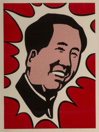 Roy Lichtenstein (1923-1997) Mao, 1971 Lithograph in colors on Arches paper 23 x 16-7/8 inches (5