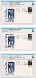 Explorers:Space Exploration, Apollo 11: Dow-Unicover Launch Covers (Three) Directly From The Armstrong Family Collection™, Certified and Encapsulat... (Total: 3 Items)