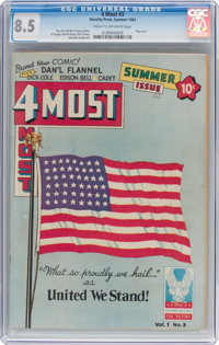 4Most #3 (Novelty Press, 1942) CGC VF+ 8.5 Cream to off-white pages